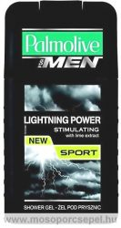 Palmolive For Men Lightning Power Sport 2 in 1 Tusfürdő és Hajsampon 250ml férfi