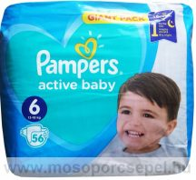 Pampers Active Baby-dry 6 Extra Large (15+ kg) pelenka - 56 db