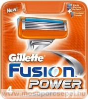 Gillette Fusion Power borotvabetét 4db