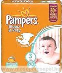 Pampers Sleep & Play 3 Midi (4-9kg) 78db